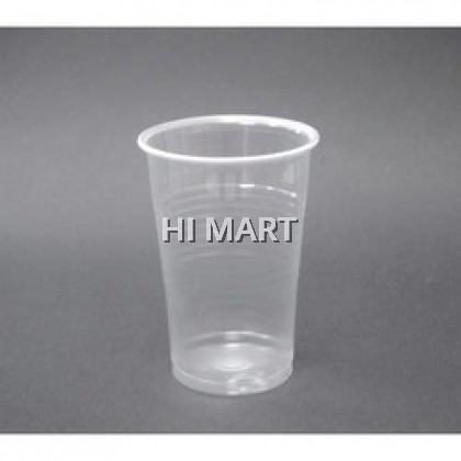 Hi Mart - 100pcs 8ozs PP Plastic Cup Round Container Disposable Pastic Drinking Cup Cawan Plastik Clear Cups 一次性用具水杯