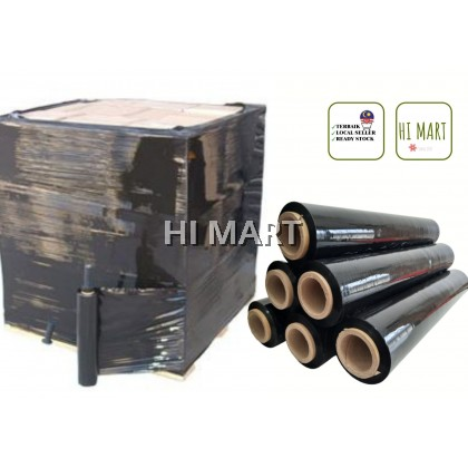 Hi Mart - 6rolls Black Stretch Film Wrapping Pallet Pallet Wrap Luggage Travel Parcel Wrapping Packing  家私,家庭保鲜膜